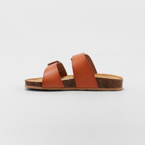 44493dfd1ffd06 Girls  Mad Love Scarlett Comfort Footbed Sandals - Cognac   Target