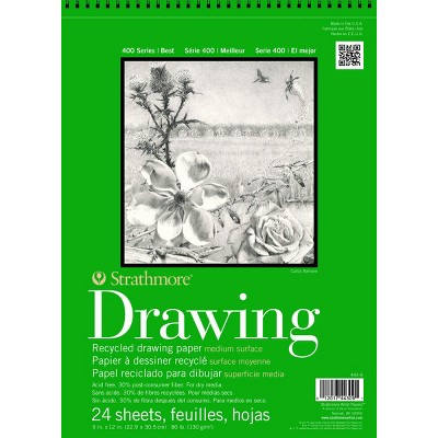 Strathmore 400 Series Recycled Drawing Pad, 11 x 14 Inches, 80 lb, 24 Sheets