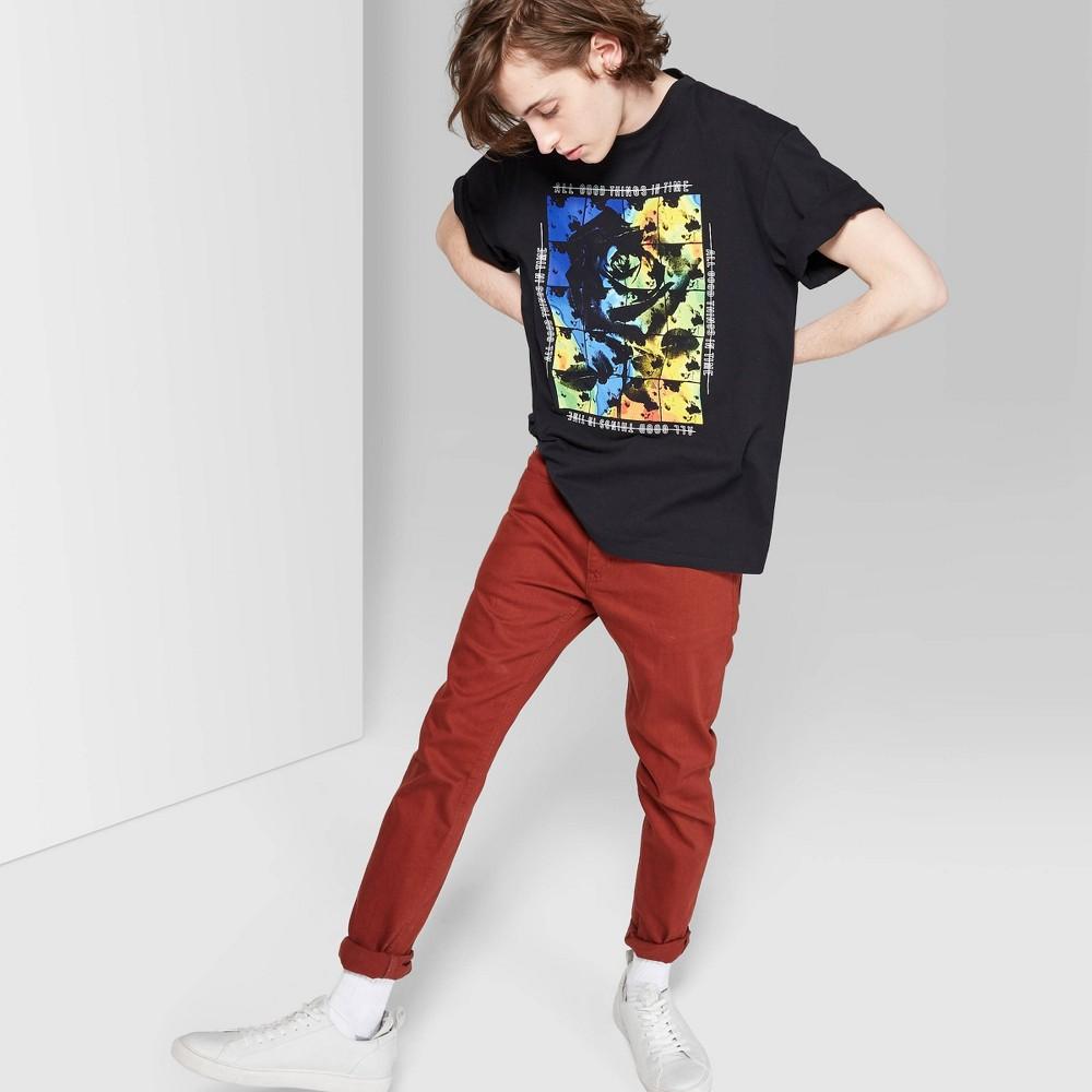 Men's Short Sleeve Thermal Coloration Graphic T-Shirt - Original Use Black L