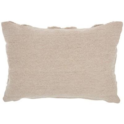 Life Styles Raised Hearts Throw Pillow Khaki - Mina Victory : Target