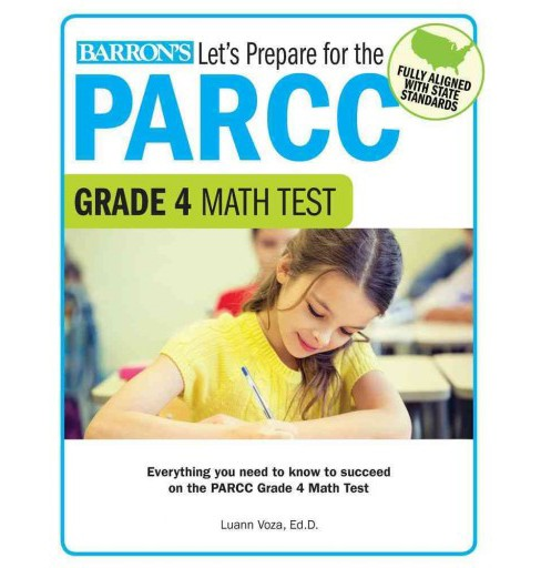 Let's Prepare for the PARCC Grade 4 Math Test (Paperback) (Luann Voza) - image 1 of 1