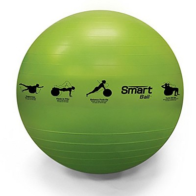 Prism Fitness 65cm Smart Self-Guided Fitness Stability Exercise Ball for Yoga, Pilates, and Office Ball Chair, Yellow
