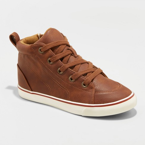Boys' Florian Mid Top Sneakers - Cat & Jack™ Tan - image 1 of 4