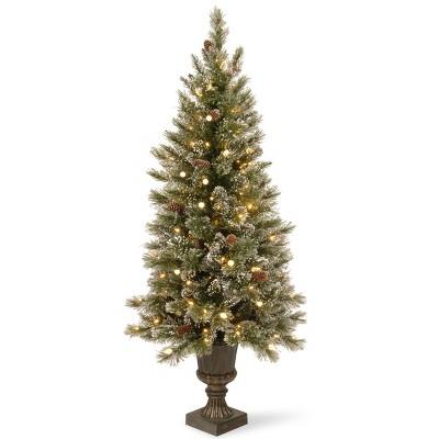 5ft National Christmas Tree Company Glittery Bristle Artificial Christmas Tree 150ct Warm White LED