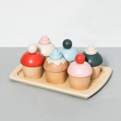 Wooden Toy Cupcake Set - Hearth & Hand™ with Magnolia