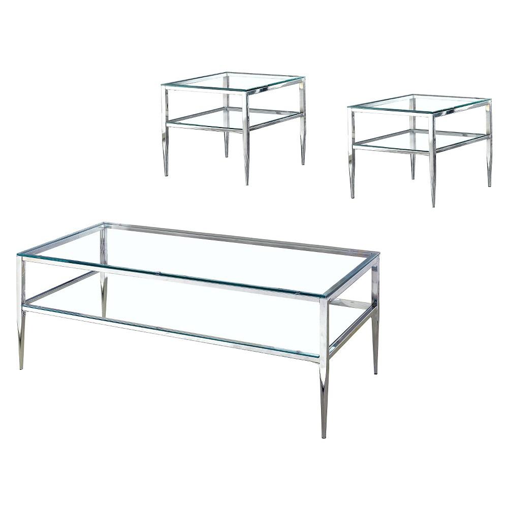 ioHomes Occasional Table Set Platinum
