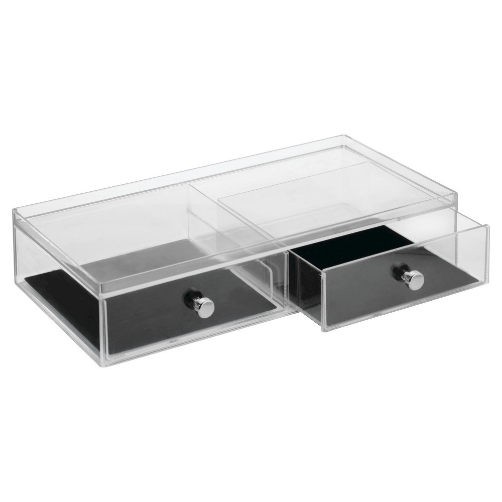 Image of Drawers Jewelry - 2 Drawer Wide, Adult Unisex, Clear Black