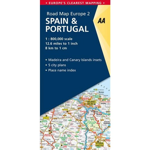 AA Road Map Europe Spain & Portugal - (AA Road Map Europe ...