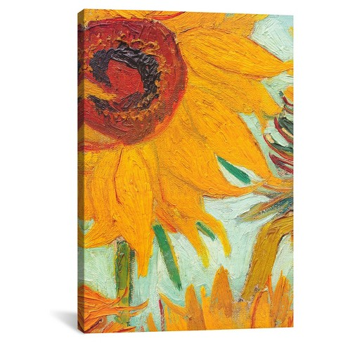 Twelve Sunflowers (detail) by Vincent Van Gogh Canvas Print - image 1 of 2