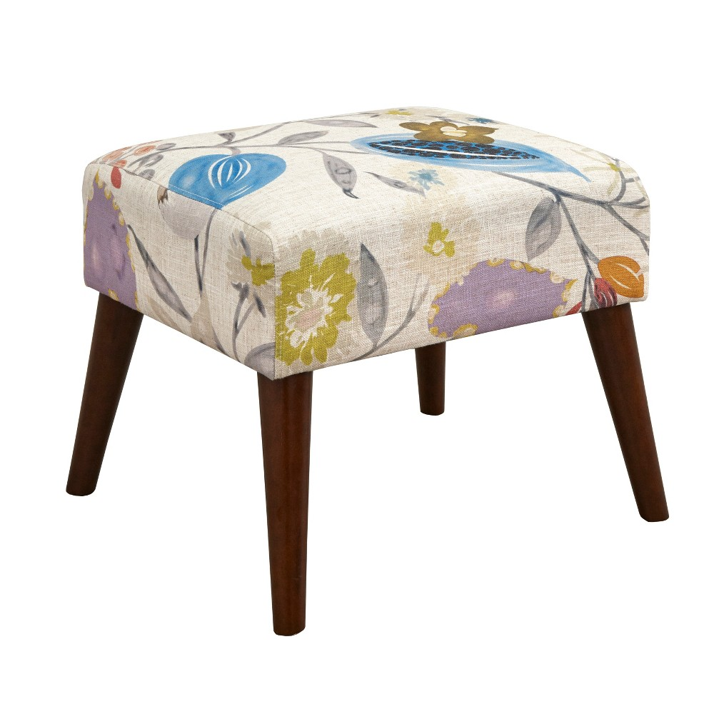 Image of Jane Ottoman Floral Pop - angelo:Home