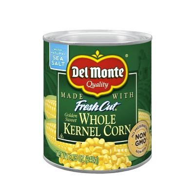 Del Monte Fresh Cut Golden Sweet Whole Kernel Corn 8.75oz