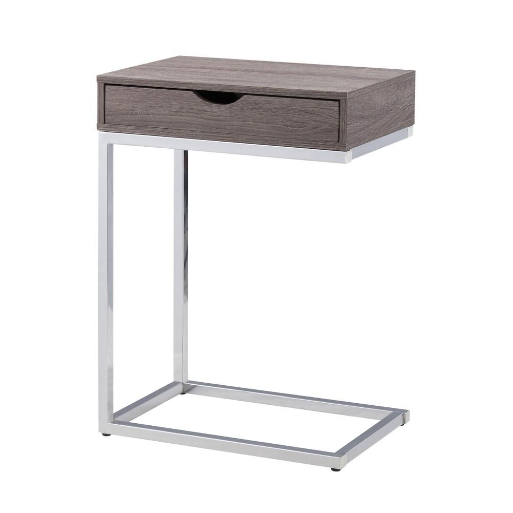Zaha Storage Table Chrome - Carolina Chair and Table