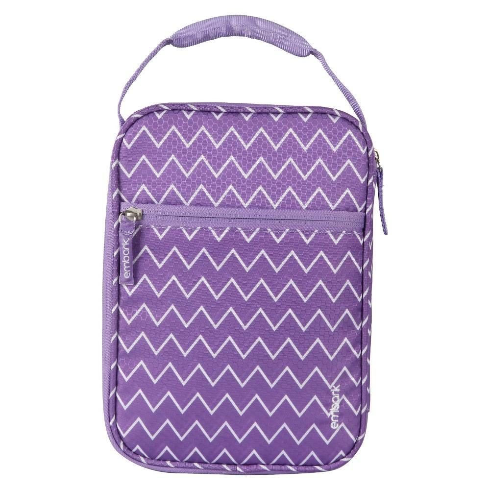 Crush Resistant Lunch Box - Purple Zig Zag - Embark, Violet Bulb