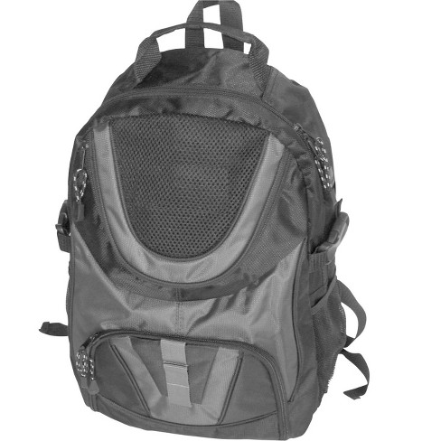 School Smart Double Pocket Backpack with Compartments and Straps, 17 X 12 X 5.5 in, Polyester, Gray - image 1 of 1