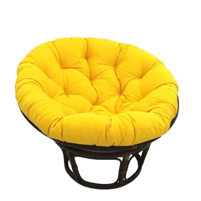 "42"" Rattan Papasan Chair with Solid Twill Cushion - International Caravan"
