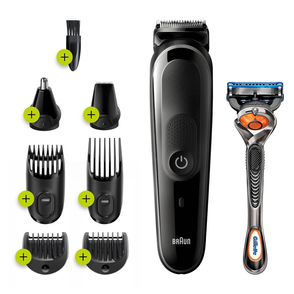 Image of Braun MGK3260 8-in-1 Men's Rechargeable Wet & Dry Electric Shaver & Trimmer Kit for Beard & Hair Styling