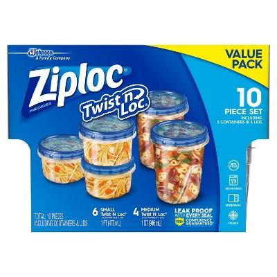 Ziploc Twist 'n Loc Container Variety 10 Piece Set - 5ct