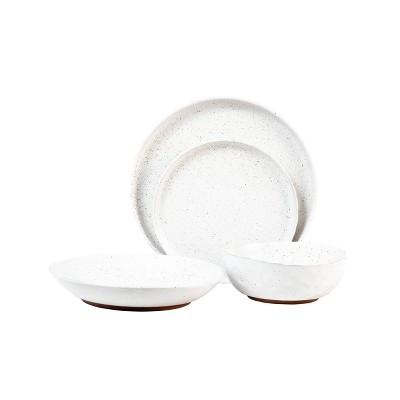 16pc Stoneware Kaya Dinnerware Set White - Sango