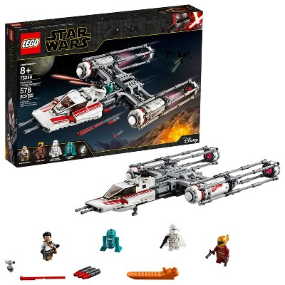 LEGO Star Wars: The Rise of Skywalker Resistance Y-Wing Starfighter New Advanced Collectible Starship Model Building Kit 75249