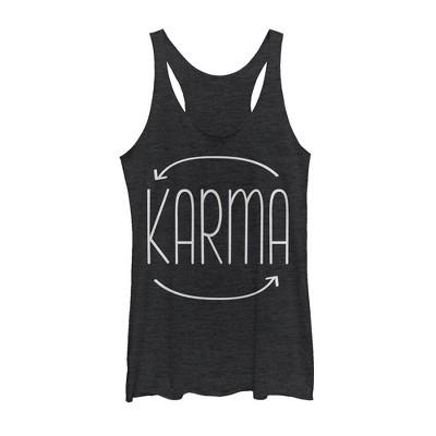 Women's Peaceful Warrior Karma Circle Racerback Tank Top