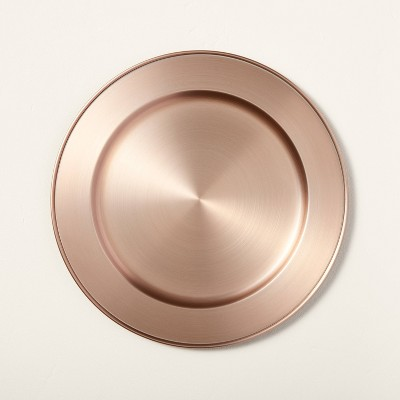 Metal Plate Charger Brassy Copper - Hearth & Hand™ with Magnolia