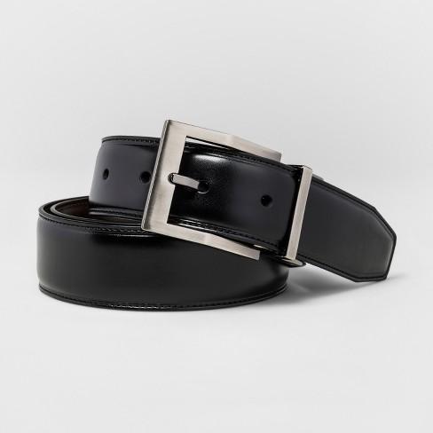 Men's SWISSGEAR Reversible Contemporary Buckle Belt - Black/Brown - image 1 of 4