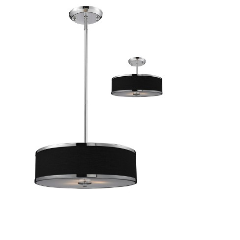 Convertible Pendant Ceiling Lights with Black Glass (Set of 3) - Z-Lite - image 1 of 1