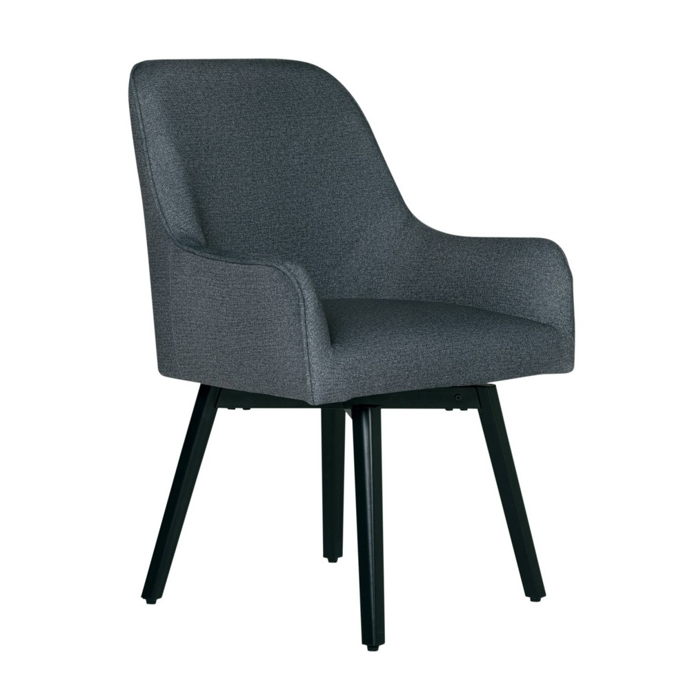 Spire Luxe Swivel Chair Charcoal Heather - Studio Designs Home