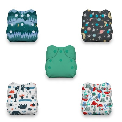 Thirsties   Newborn All-in-One Snap Cloth Diaper Pack of 5