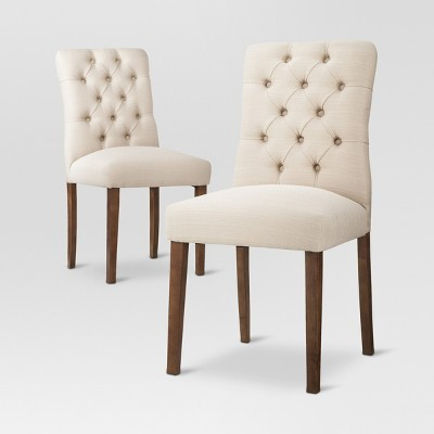 Brookline Tufted Dining Chair - Oyster (Set of 2)- Threshold™