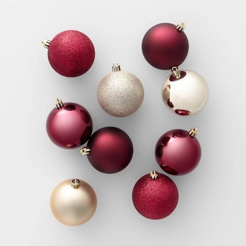 Christmas Ornament Set.50ct Christmas Ornament Set 70mm Wine And Champagne Wondershop