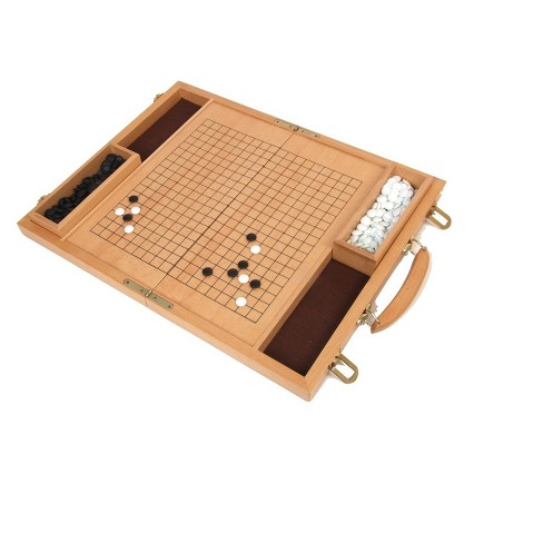 "15"" Deluxe Wood Go Board Game - image 1 of 1"