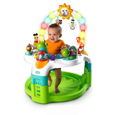 fc0b4144a Bright Starts 2-in-1 Laugh   Lights Activity Gym   Saucer - Green ...