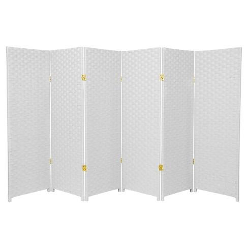 4 Ft Tall Woven Fiber Room Divider White 6 Target