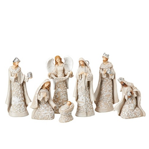 Nativity Set with Angel 7ct - Roman - image 1 of 1