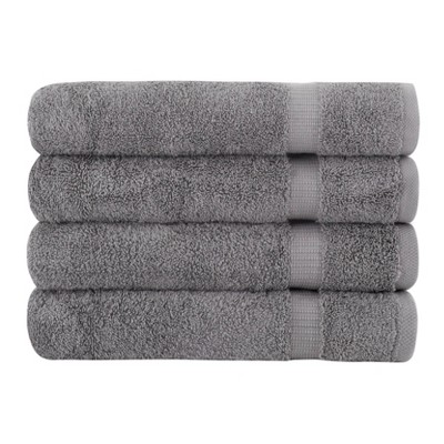 4pc Villa Bath Towel Set Gray - Royal Turkish Towel