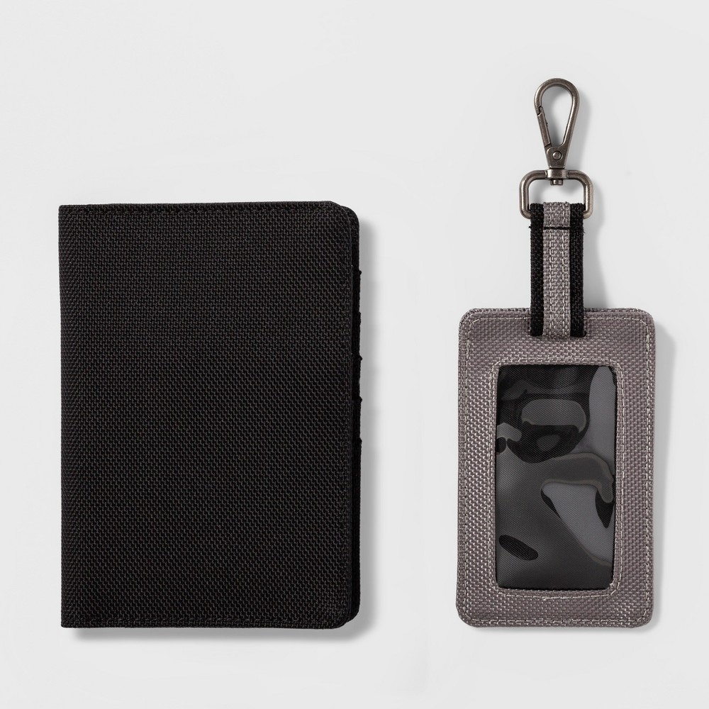 Travel Luggage Tag 2pc - Goodfellow & Co Black