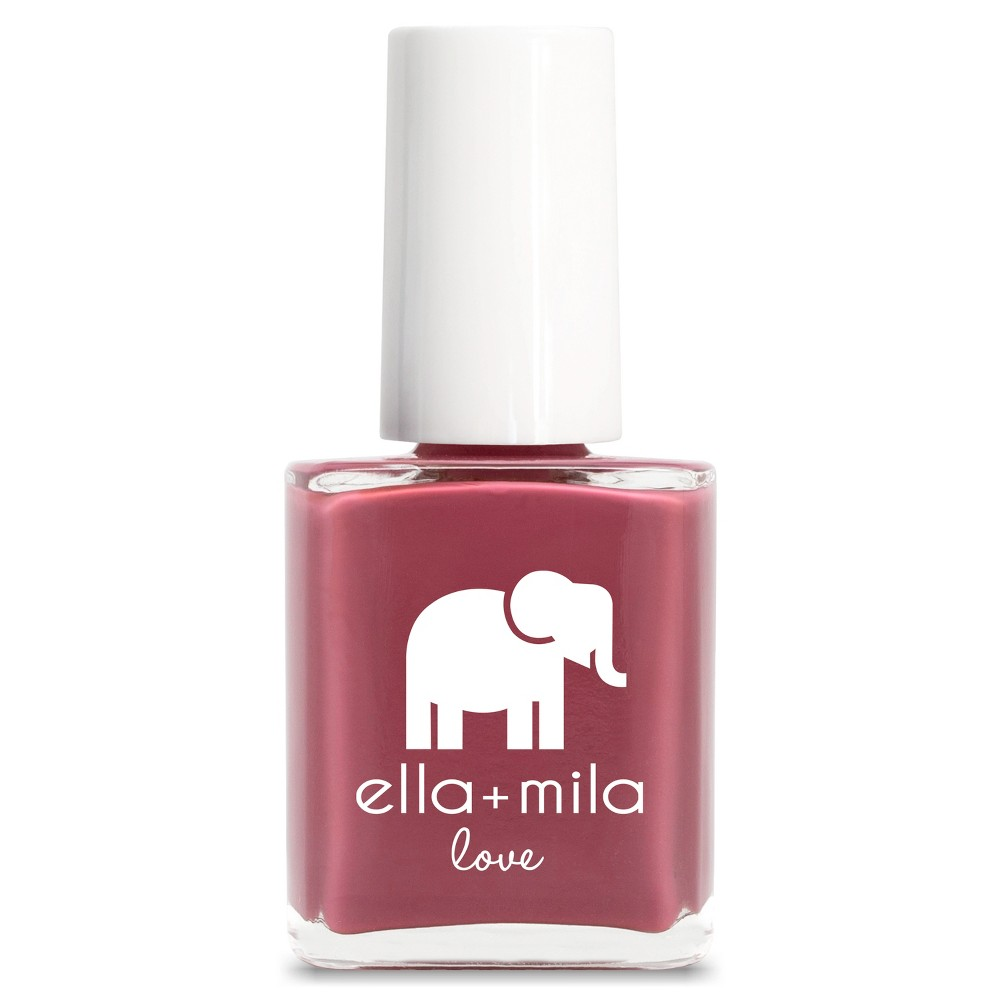 Image of Ella + Mila Nail Polish Love Collection Berry Much in Love - .45oz, Pink Much in Love
