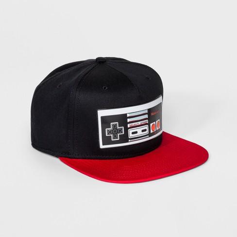 be582aa09f Men s Nintendo Controller Baseball Hat - Black One Size   Target