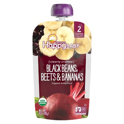 Happy Baby Clearly Crafted, Black Beans Beets Bananas - 4oz