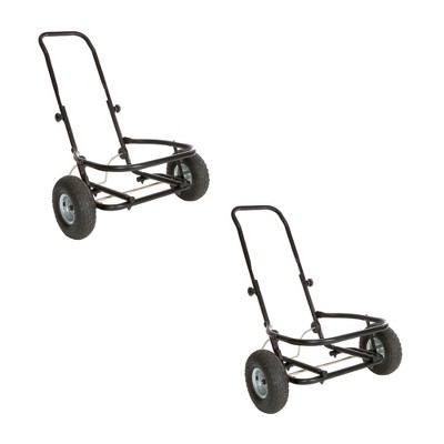 Miller Manufacturing Company CA500 Heavy Duty Multipurpose Muck Cart for 70 Quart Tubs, Black (2 Pack)