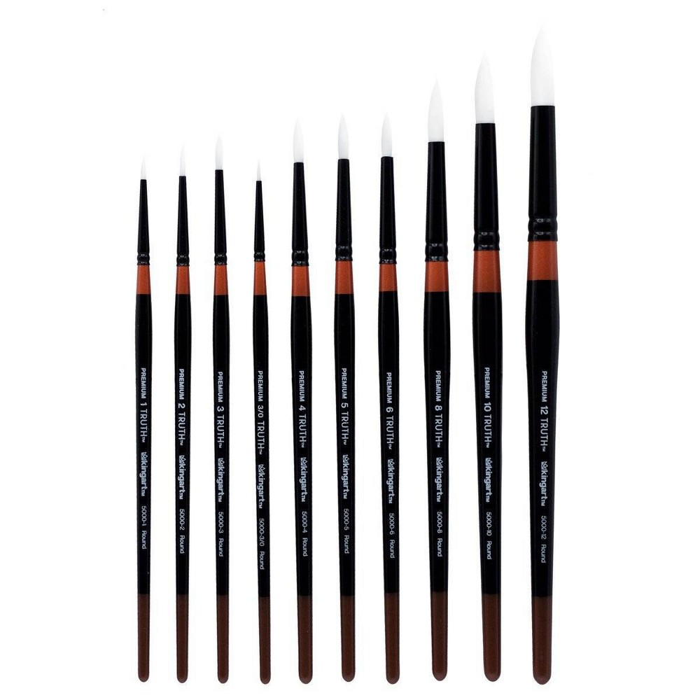 Image of Kingart 10ct Truth Brush Set - Short handle
