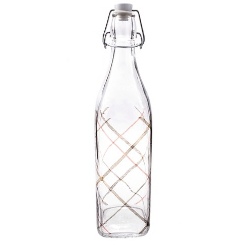 Bormioli Rocco 1 Liter Swing Top Bottle - Plaid Navy - image 1 of 1
