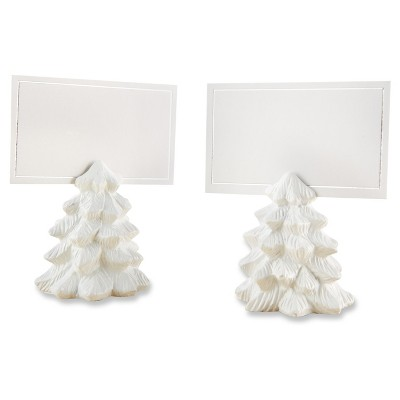 12ct Kate Aspen White Pine Tree Place Card Holders