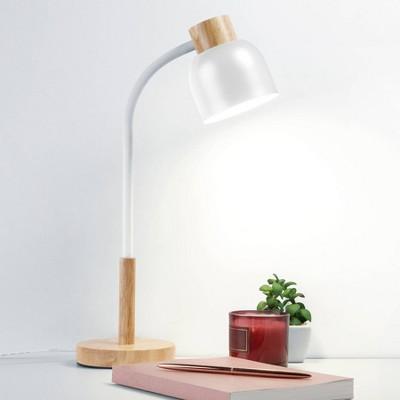 Wood Trim Desk Lamp (Includes LED Light Bulb) - Merkury Innovations