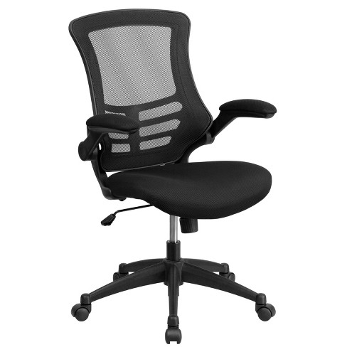 Swivel Task Chair With Mesh Padded Seat Black Flash Furniture Target