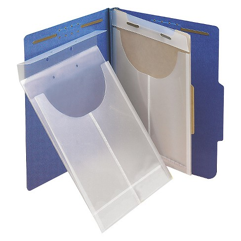Smead® Two-Hole Letter/Legal Accordion Expanding Pockets, Large/Ltr, Poly, Clear, 24/Box - image 1 of 2