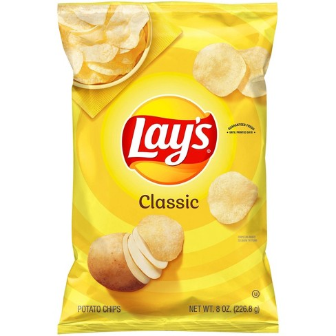 Lay's Classic Potato Chips - 8oz - image 1 of 4