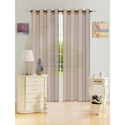 Kashi Home Leah 55 x 84 Sheer Grommet Top Curtain Panel