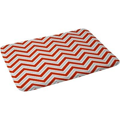"24""x36"" Peppermint Bath Mat Red - Deny Designs"